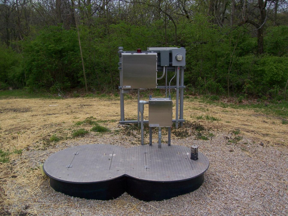 Grinder Pump Station located in Paris Illinois